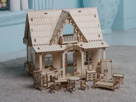 Кукольный домик Country House с мебелью