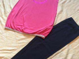 Новый летний комплект для девочки туника и Капри 128 - 134