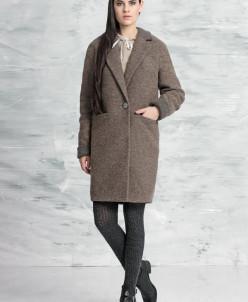 1023-3 пальто  (коричневый)