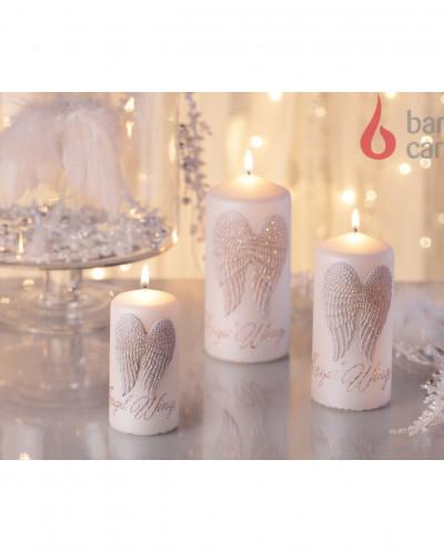 свеча колонна Ангельские крылья 60х130