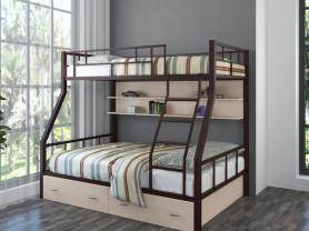 Двухъярусная металлическая кровать Раута