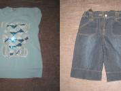 футболка и шорты р.134