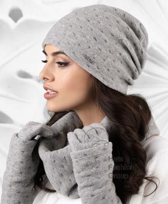 ARGENTA к-т2 шапка+снуд+перчатки женские Kamea