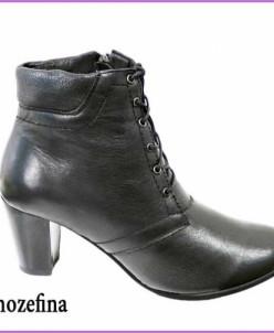 Ботинки из кожи на устойчевом каблуке.