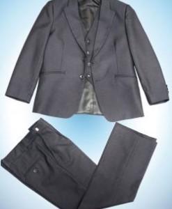 Комплект 3в1 д/м пиджак , брюки , жилет Т-СЕРЫЙ