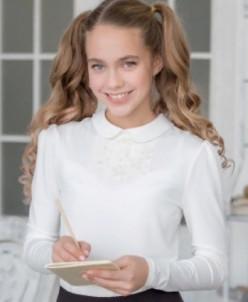 Трикотажная блузка ф*елина ваниль