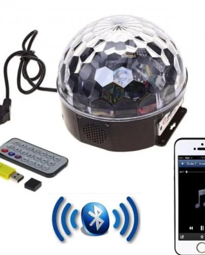 Вращающаяся диско лампа LED\MP3\USB c Bluetooth