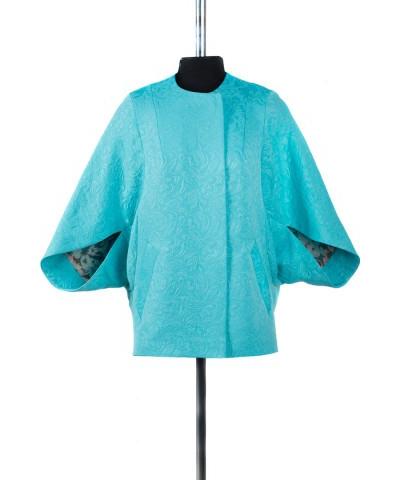 12-0136 Пальто облегченное Жаккард Лимон