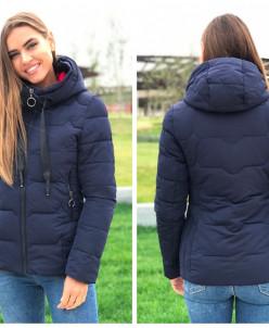 Женская куртка 88-02 темно-синяя
