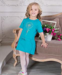 Платье – короткий  рукав, Паетки и вышивка 3 цвета