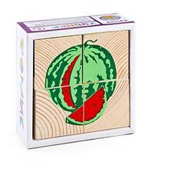 Кубики «сложи рисунок: Фрукты-ягоды»