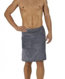 Килт для мужчин в сауну/ баню из микроволокна (белый)