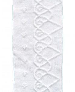 Колготки  ажурные для девочек, белые 116-122