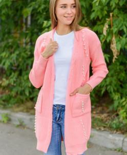 Женский кардиган  розовый