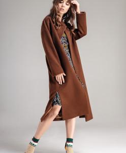 Р1175 пальто    Цвет:   коричневый