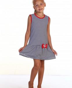Платье детское П-5 Полоса (кулирка)