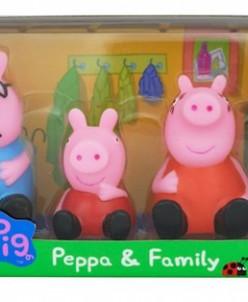 Набор Семья Пеппы (для ванны, с пищалками)