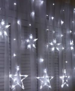 Гирлянда Звезды 2.5х9.5м, 12 звезд, холодный белый