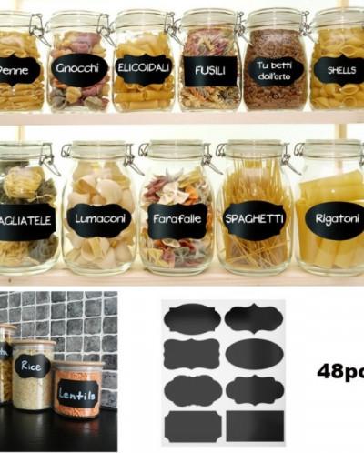 Наклейки для кухни грифельные Ассорти