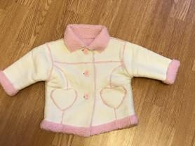 Искусственная куртка дубленка 74-80 см