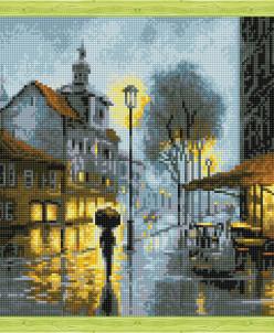 Дождь в городе - алмазная мозаика