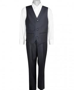 Школьный костюм-двойка UNIK KIDS, жилетка+брюки, темно-серый