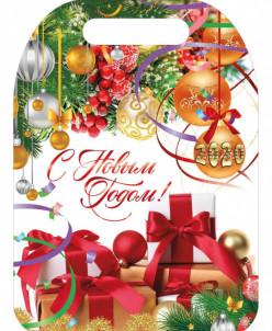 """Подарочная разделочная доска """"С Новым годом"""""""