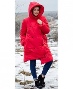 Женская куртка-одеяло с капюшоном, ассиметричный низом