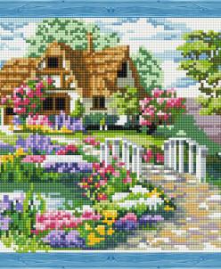 Мостик к дому - алмазная мозаика