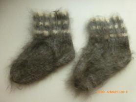 Носки из ангоры ручной вязки новые на 18мес.+