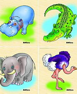 Африканские животные (карт.разр.) (RNToys)