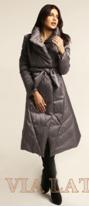 Пальто Женское  серый матовый