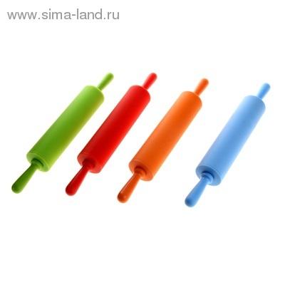 """Скалка силиконовая 30 см """"Валенсия"""", цвета МИКС"""