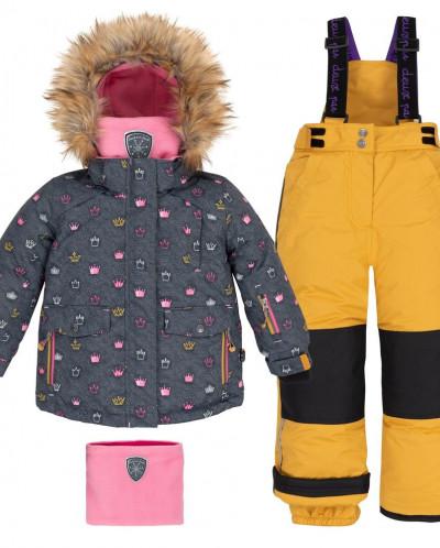 Костюм Deux par Deux  (куртка+брюки на лямках+манишка)