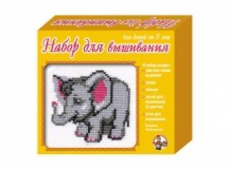 Вышивка Слоненок (с пяльцами)