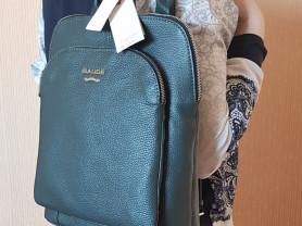 Новый кожаный рюкзак -сумка Италия