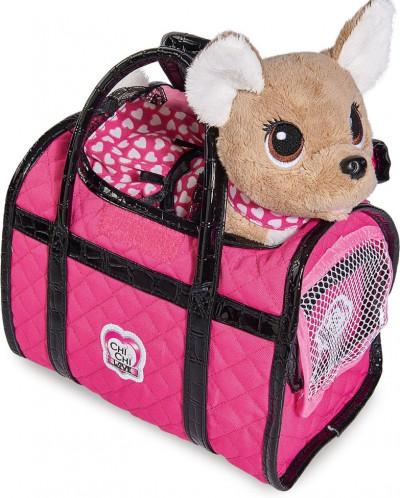 Собачка - путешественница Chi Chi Love с сумкой переноской