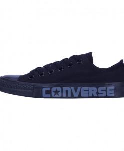 Кеды Converse Chuck Taylor All Star All Black с надписью