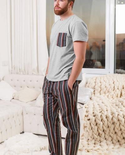 Байковая мужская пижама