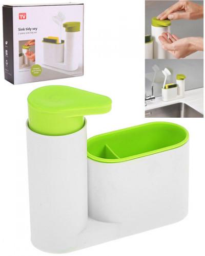 Органайзер для раковины с дозатором для мыла