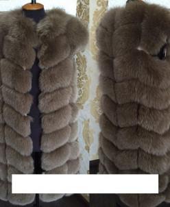 Жилетка натуральный мех песец