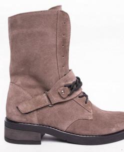 Ботинки №413-3 песочная замша (брук)