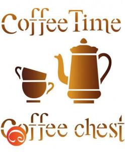 """Трафарет """"Coffee"""", формат А5"""