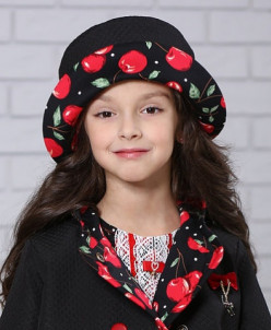 """Шляпа для девочки """"Вишенка"""""""