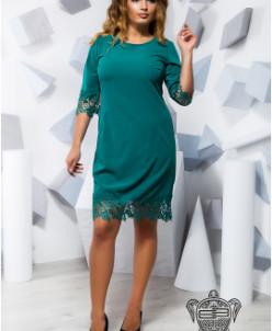 Платье с кружевом - 17218