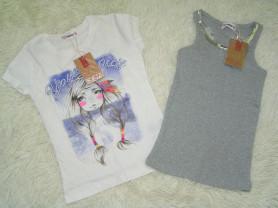 новые футболка и майка fox 12л (133-142см)