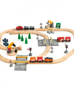 Набор железной дороги Brio с подъемниками, переездами (БРИО)