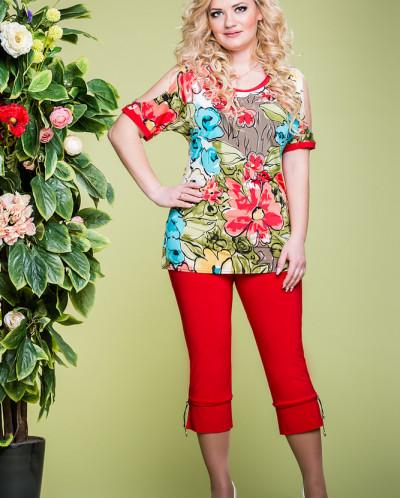 Блуза Астра цвет красный