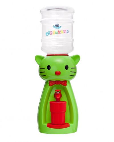 Детский кулер для воды кошка зеленая Акваняня