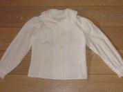 Две белые блузочки для школы на рост 128-134